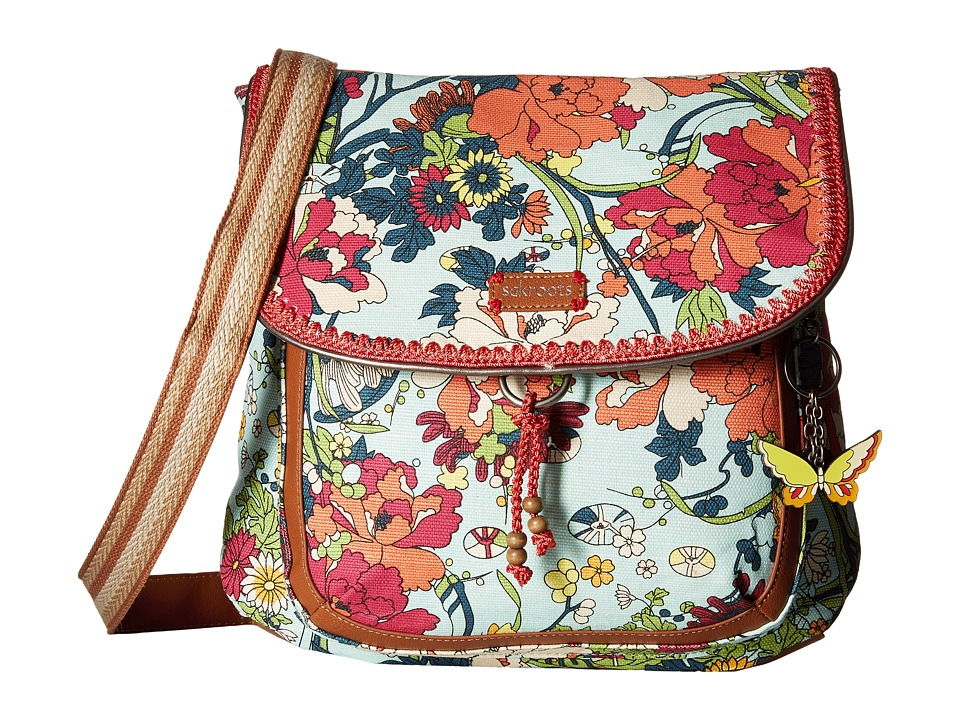 Sakroots - Artist Circle Convertible Backpack (Seafoam Flower Power) Backpack Bags