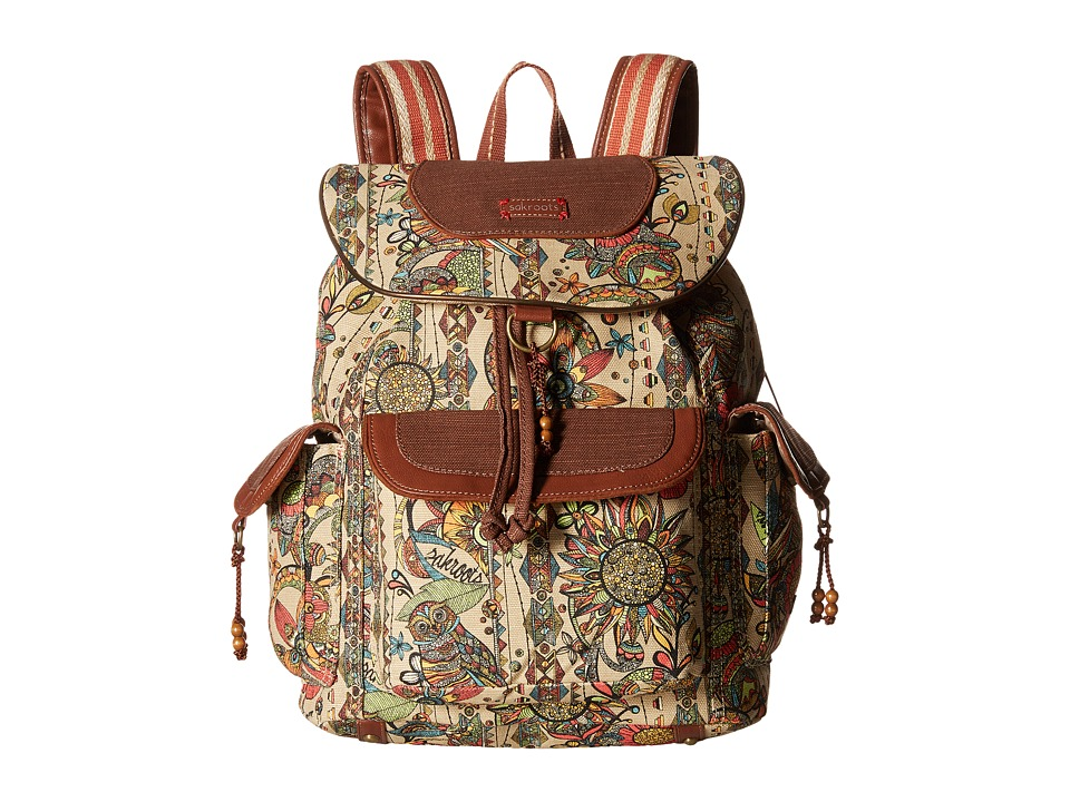 Sakroots - Sakroots Artist Circle Flap Backpack (Camel Spirit Desert) Backpack Bags