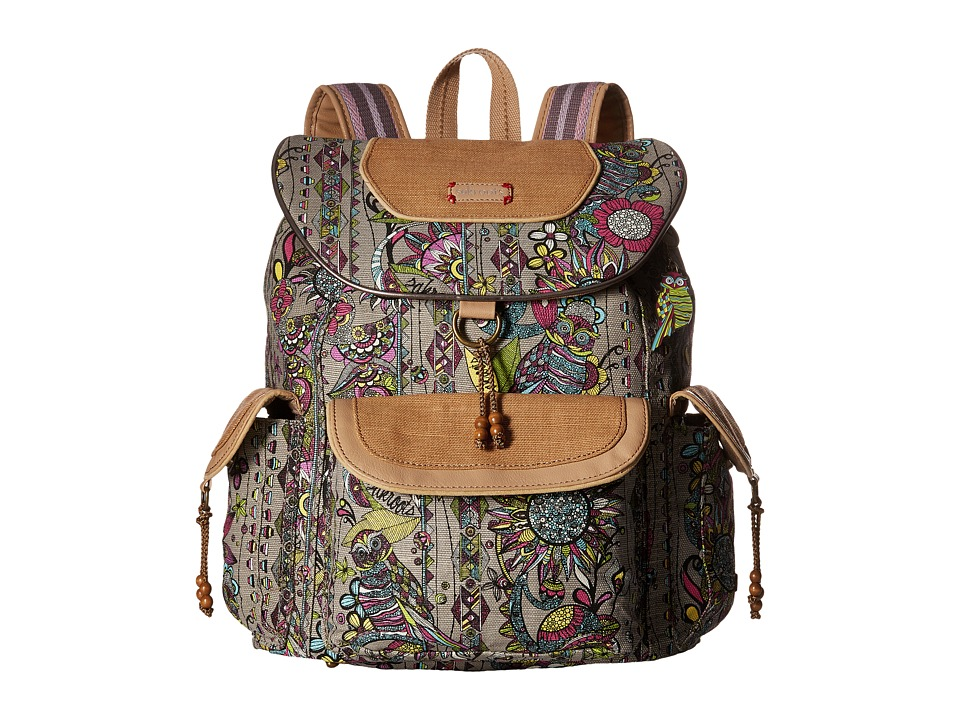 Sakroots - Sakroots Artist Circle Flap Backpack (Sterling Spirit Desert) Backpack Bags