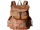Sakroots Sakroots Artist Circle Flap Backpack (Coral Treehouse)