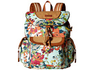 Sakroots Sakroots Artist Circle Flap Backpack (Seafoam Flower Power)
