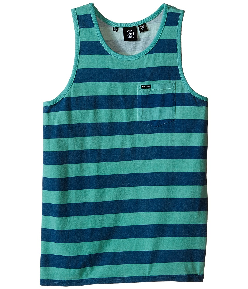Volcom Kids Blister Tank Top Big Kids Island Green Boys Sleeveless