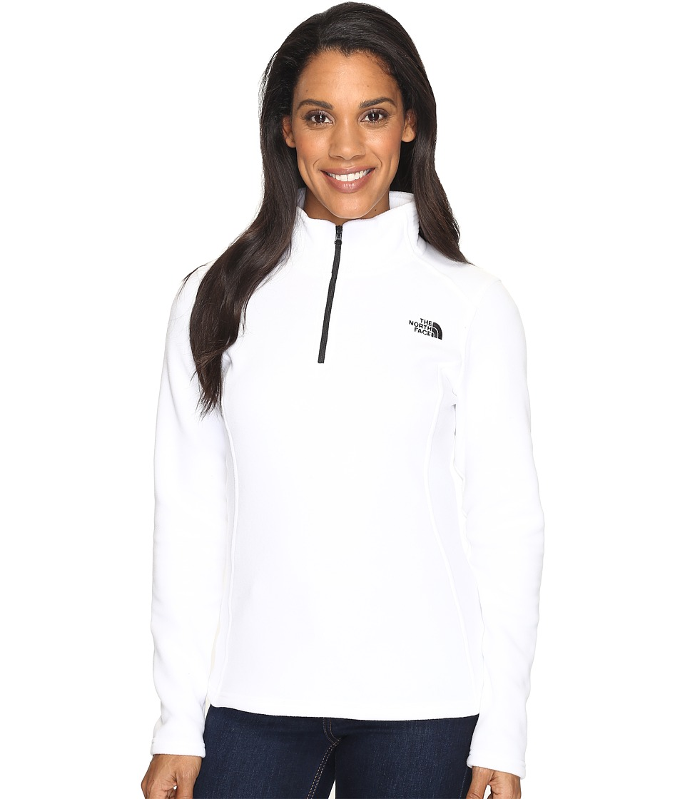 The North Face Glacier 1/4 Zip Fleece Top (TNF White (Prior Season)) Women