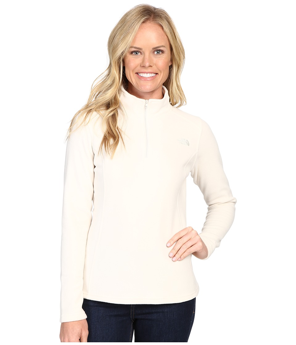 The North Face Glacier 1/4 Zip Fleece Top (Vintage White (Prior Season)) Women
