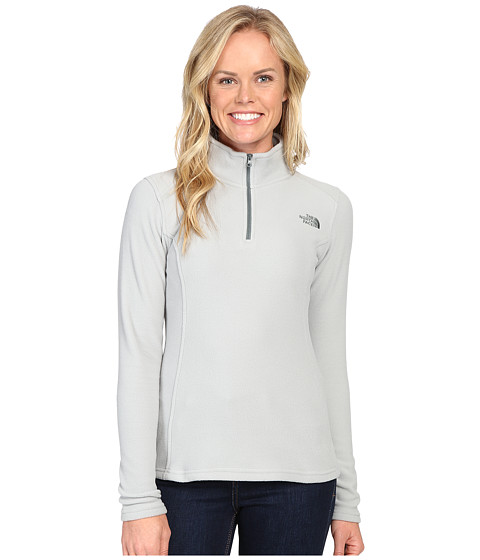 The North Face Glacier 1/4 Zip Fleece Top - Wrought Iron