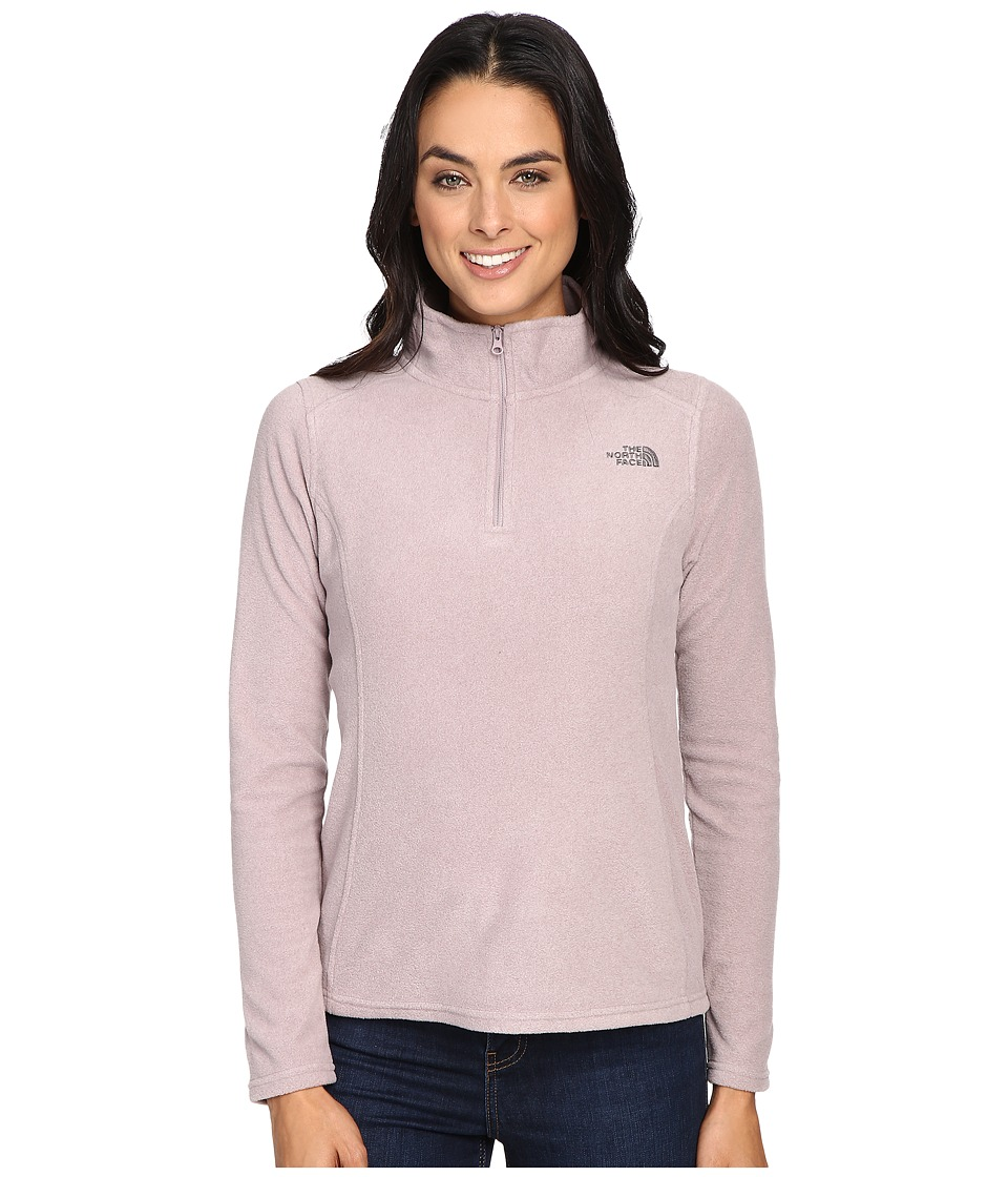 The North Face Glacier 1/4 Zip Fleece Top (Quail Grey Heather (Prior Season)) Women