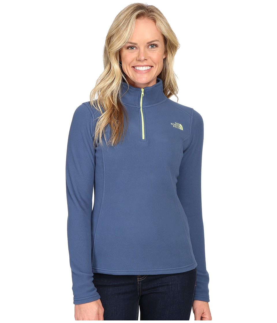 The North Face Glacier 1/4 Zip Fleece Top (Shady Blue (Prior Season)) Women