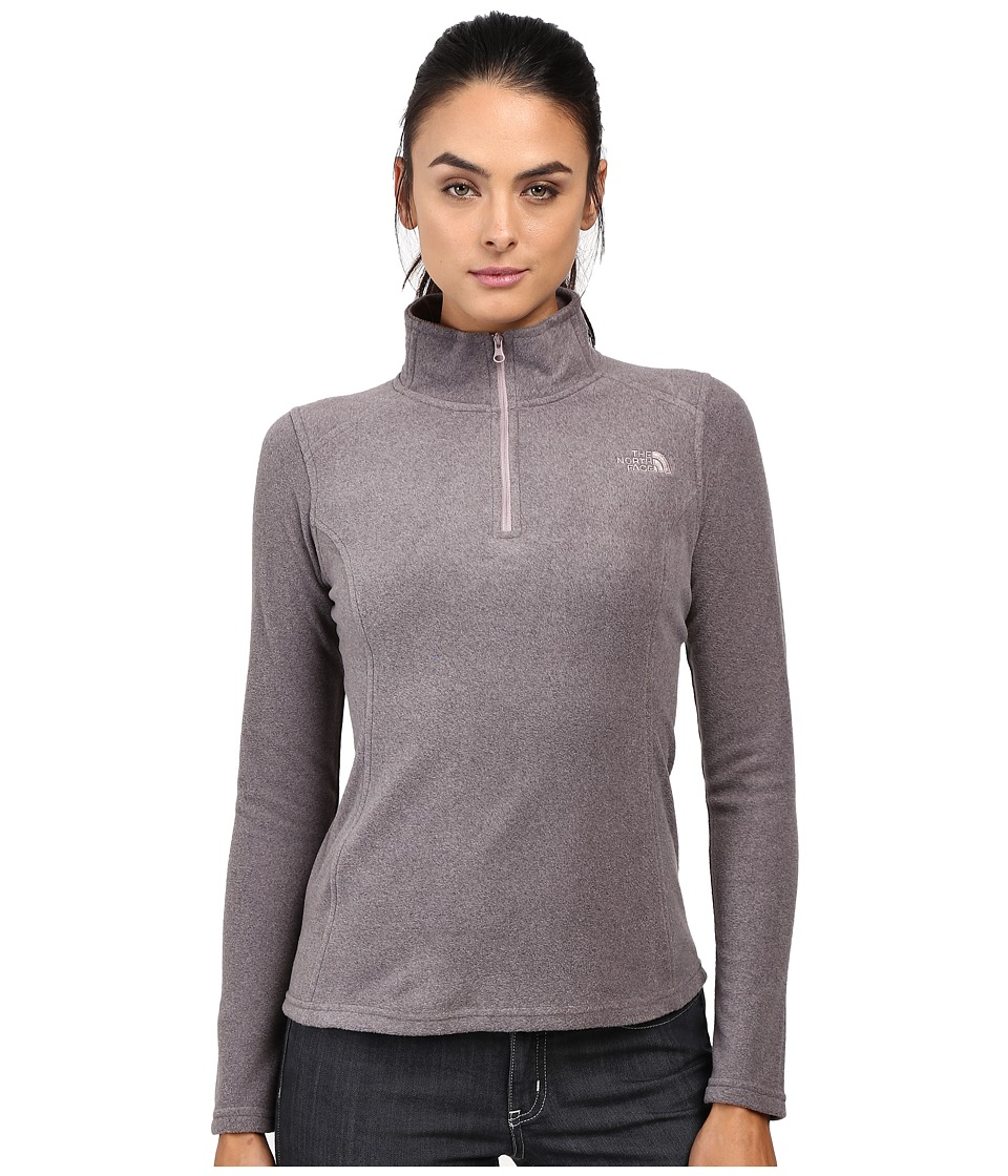 The North Face Glacier 1/4 Zip Fleece Top (Rabbit Grey Heather (Prior Season)) Women