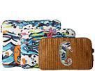Sakroots Artist Circle Straw Three-Piece Cosmetic Set (Aqua Water Nation)