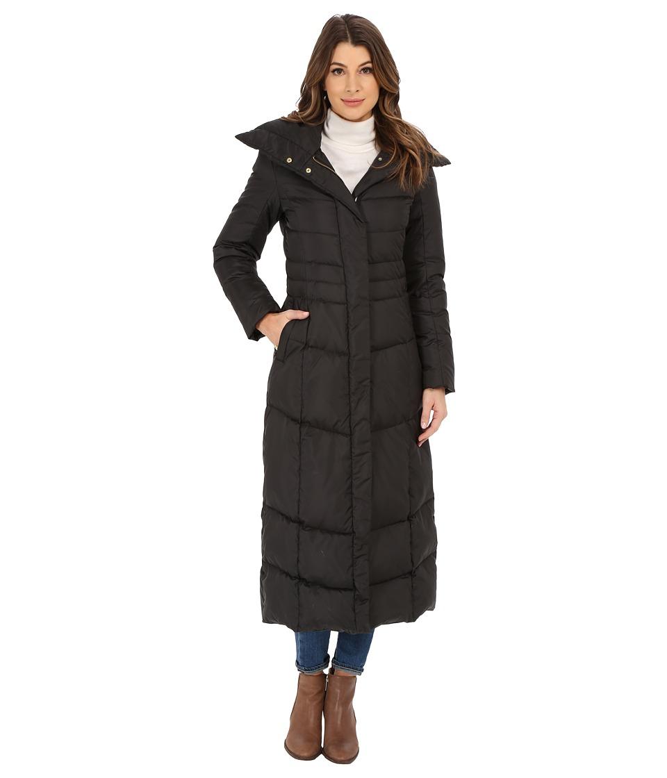 Cole Haan Maxi Down Coat with Oversized Collar (Black) Women