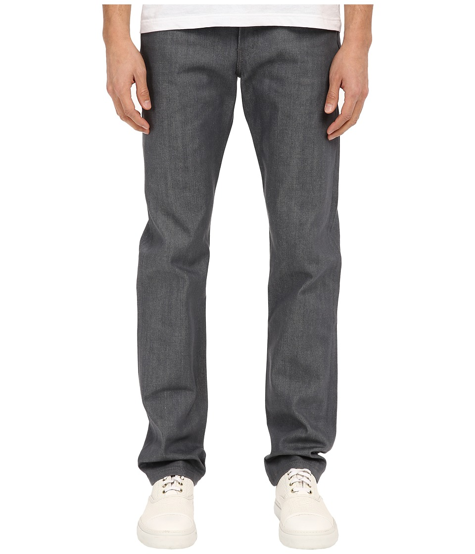 Naked amp Famous Weird Guy Grey Selvedge Denim Jeans Grey Mens Jeans