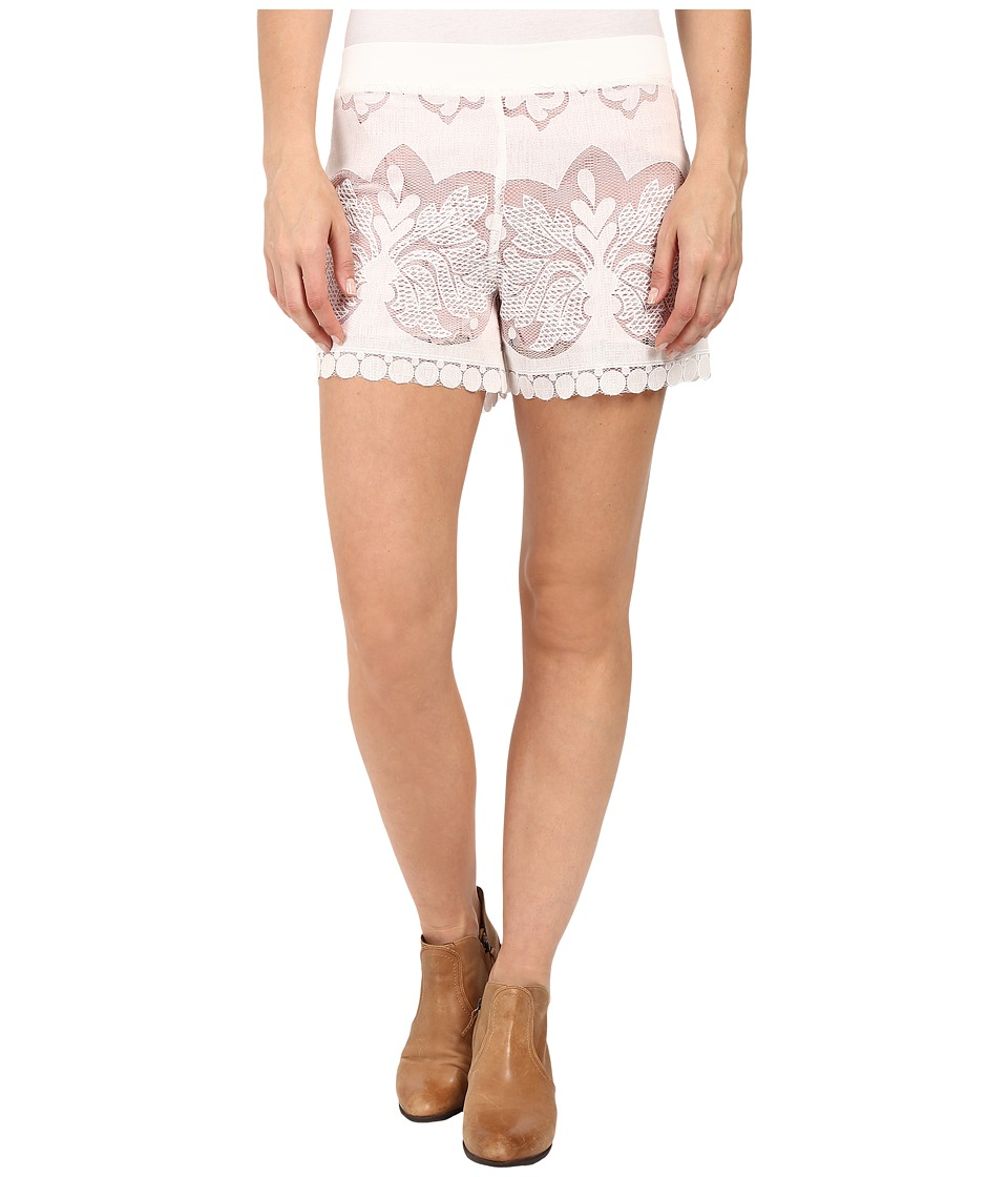 Union of Angels Laurel Shorts White Womens Shorts