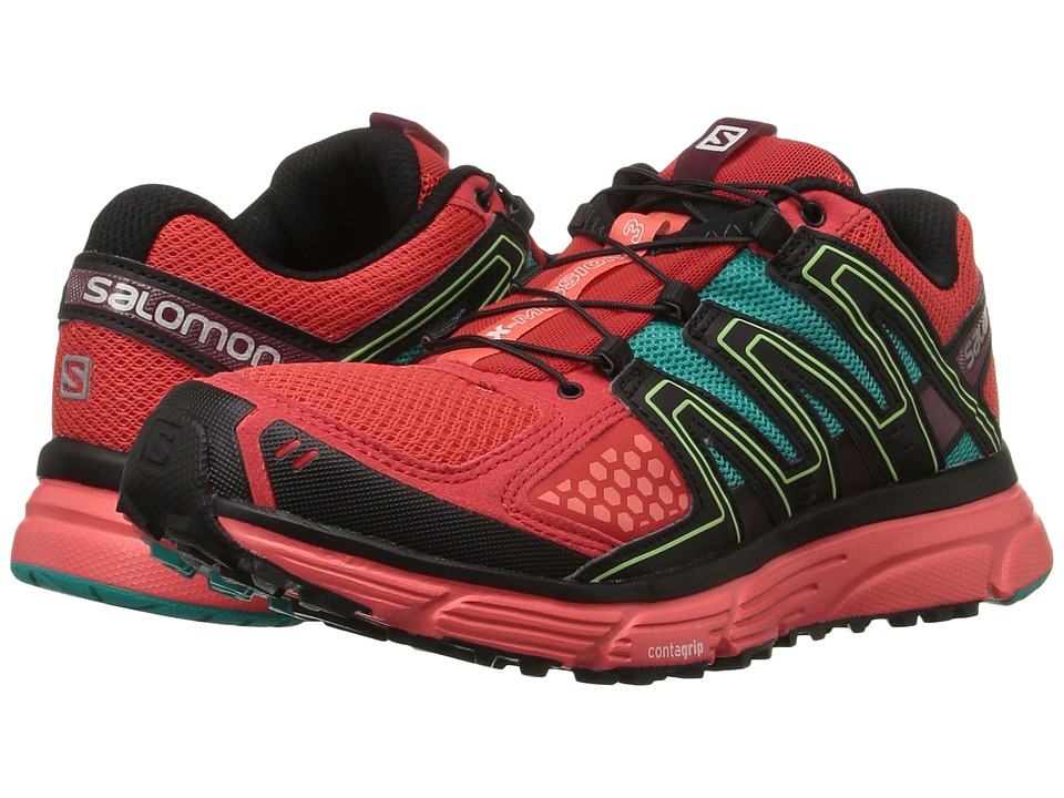 Salomon X-Mission 3 (Infrared/Coral Punch/Teal Blue F) Women