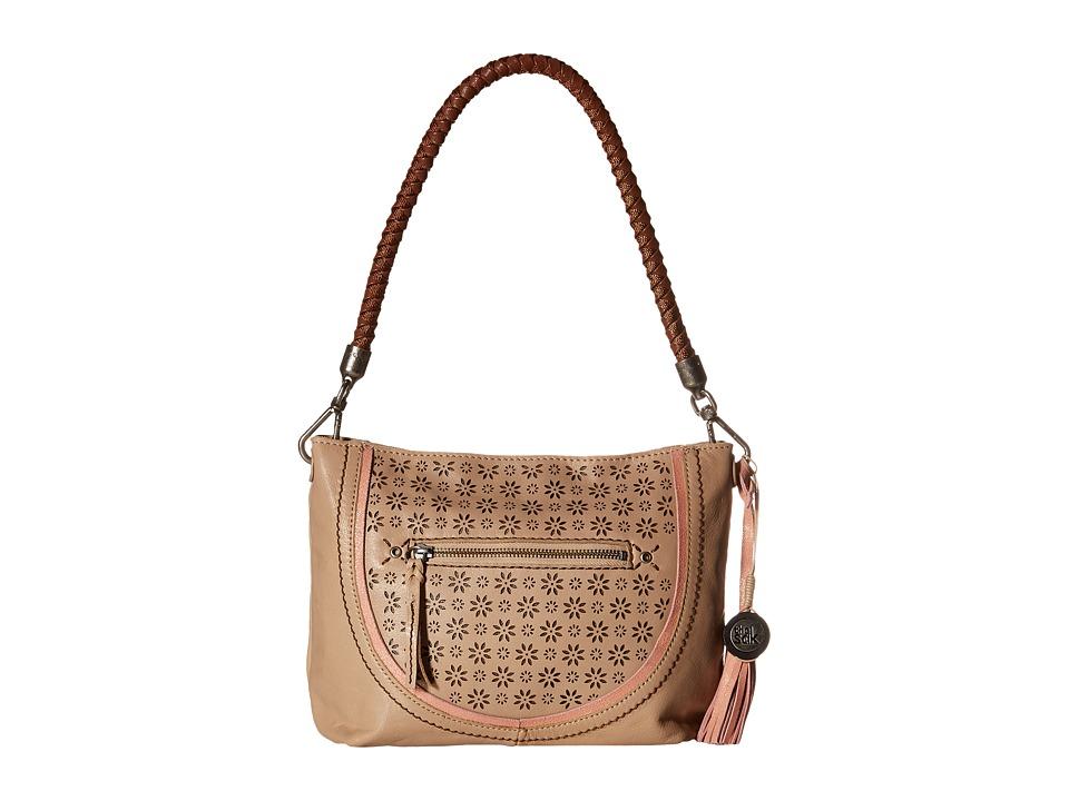 The Sak - Indio Leather Demi (Taupe Floral Perf) Shoulder Handbags
