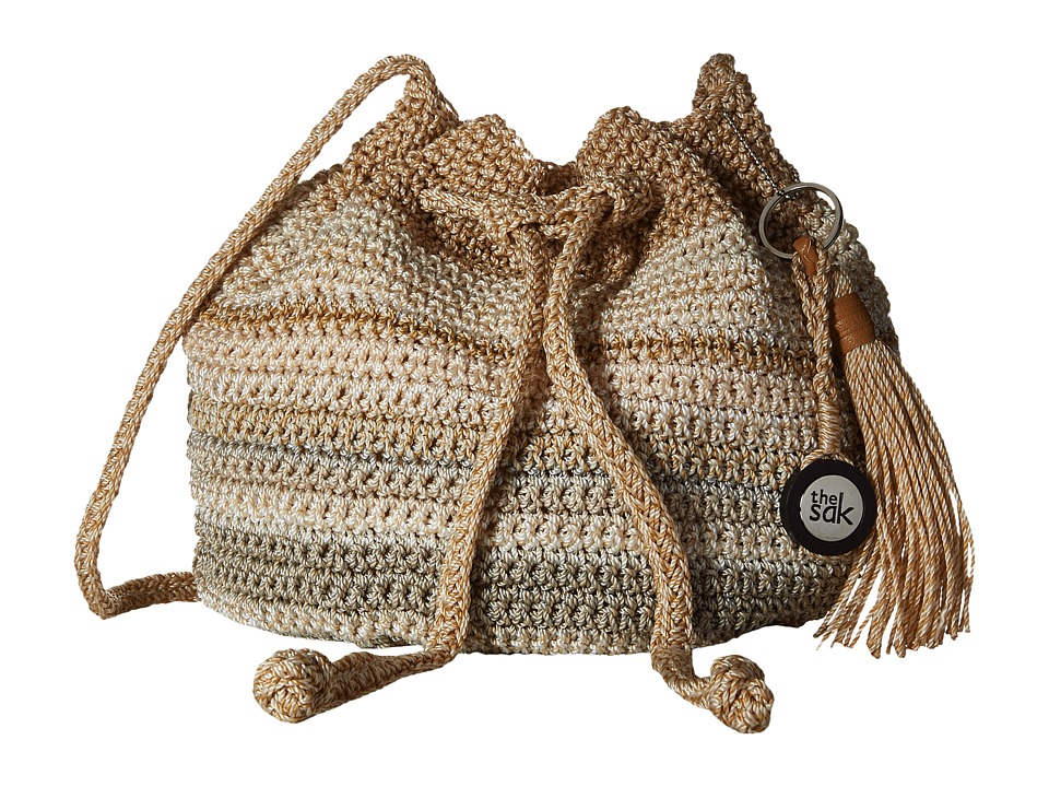 The Sak - Moraga Small Drawstring (Sand Stripe) Drawstring Handbags