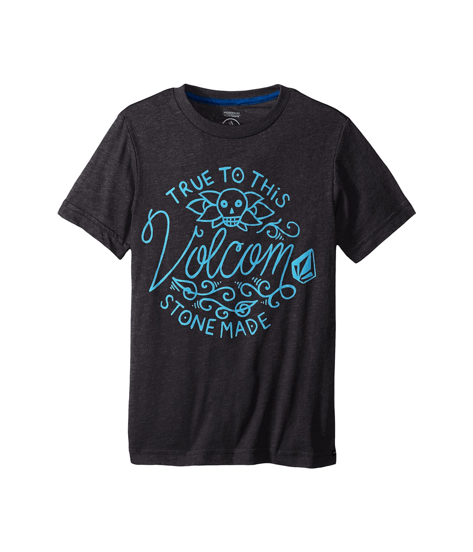 Volcom Kids - Pedal Forward Short Sleeve Tee (Big Kids) (Heather Black) Boy