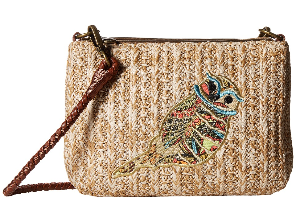Sakroots - Artist Circle Straw Campus Mini (Camel Spirit Desert) Cross Body Handbags