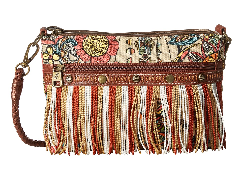 Sakroots Artist Circle Campus Mini Camel Spirit Desert Cross Body Handbags