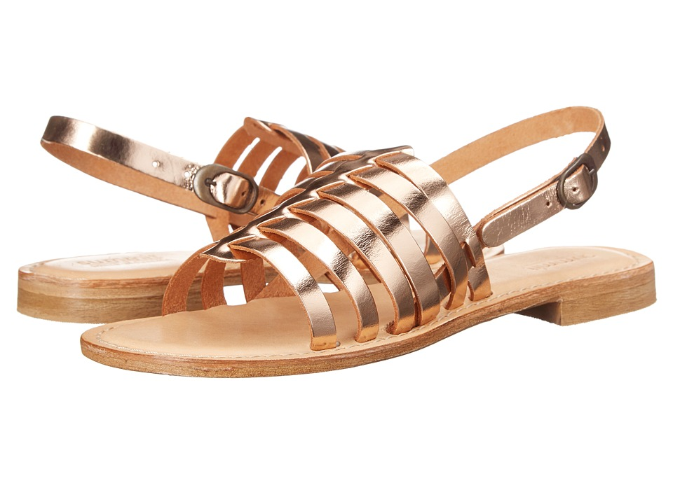 Summit White Mountain Elanna Rose Gold Metallic Leather Womens Sandals