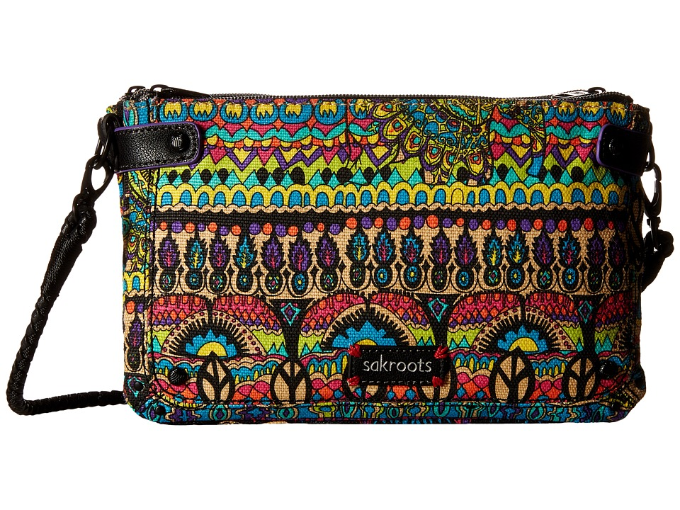 Sakroots - Artist Circle Triple Gusset Mini (Radiant One World) Cross Body Handbags