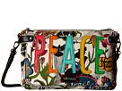 Sakroots Artist Circle Triple Gusset Mini (White Peace)