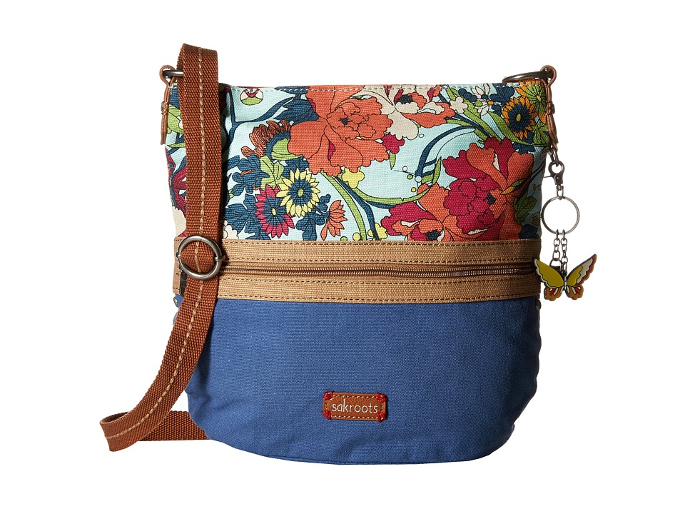 Sakroots - Artist Circle Soft Bucket (Seafoam Flower Power) Handbags