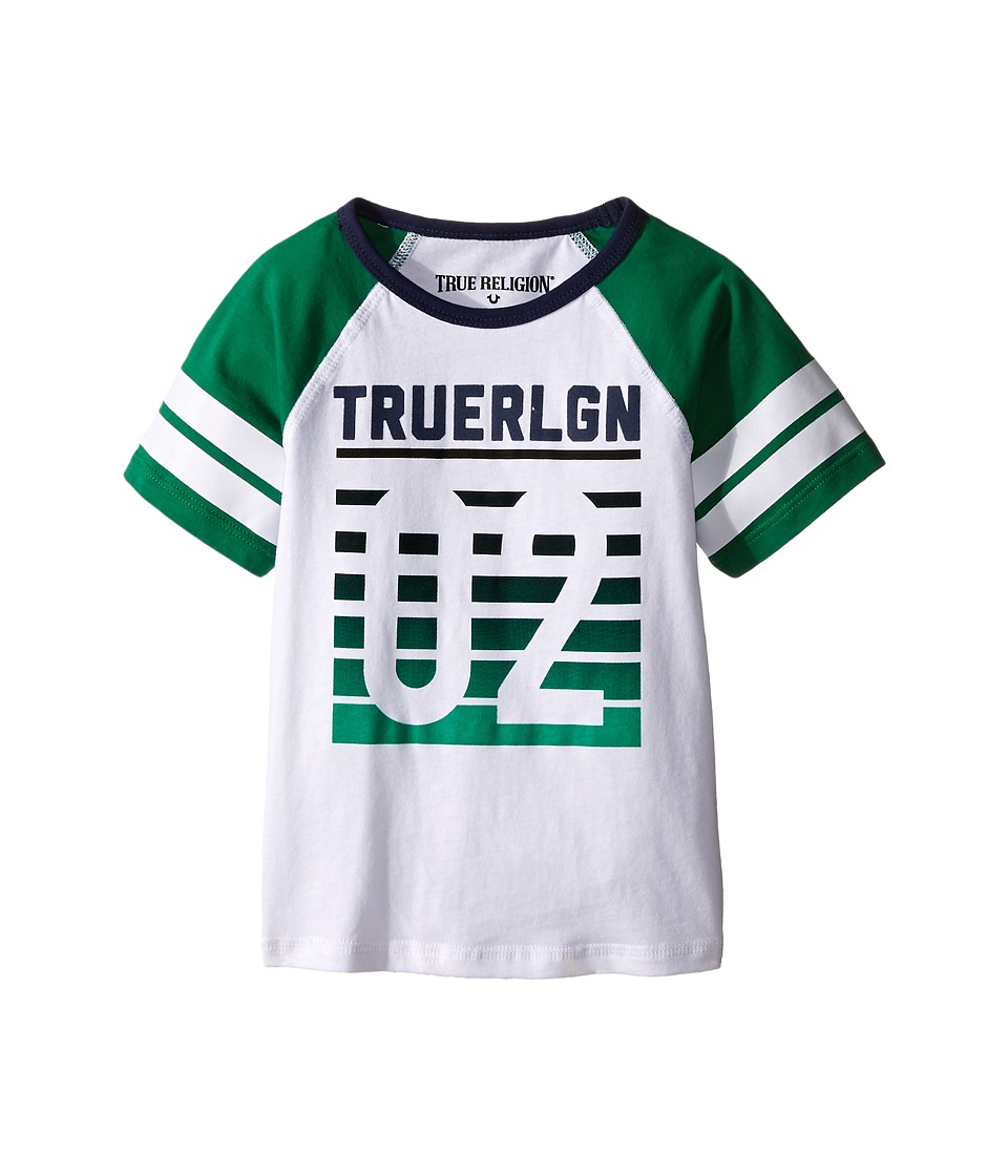 True Religion Kids Vintage Baseball Tee Shirt Big Kids White Boys T Shirt