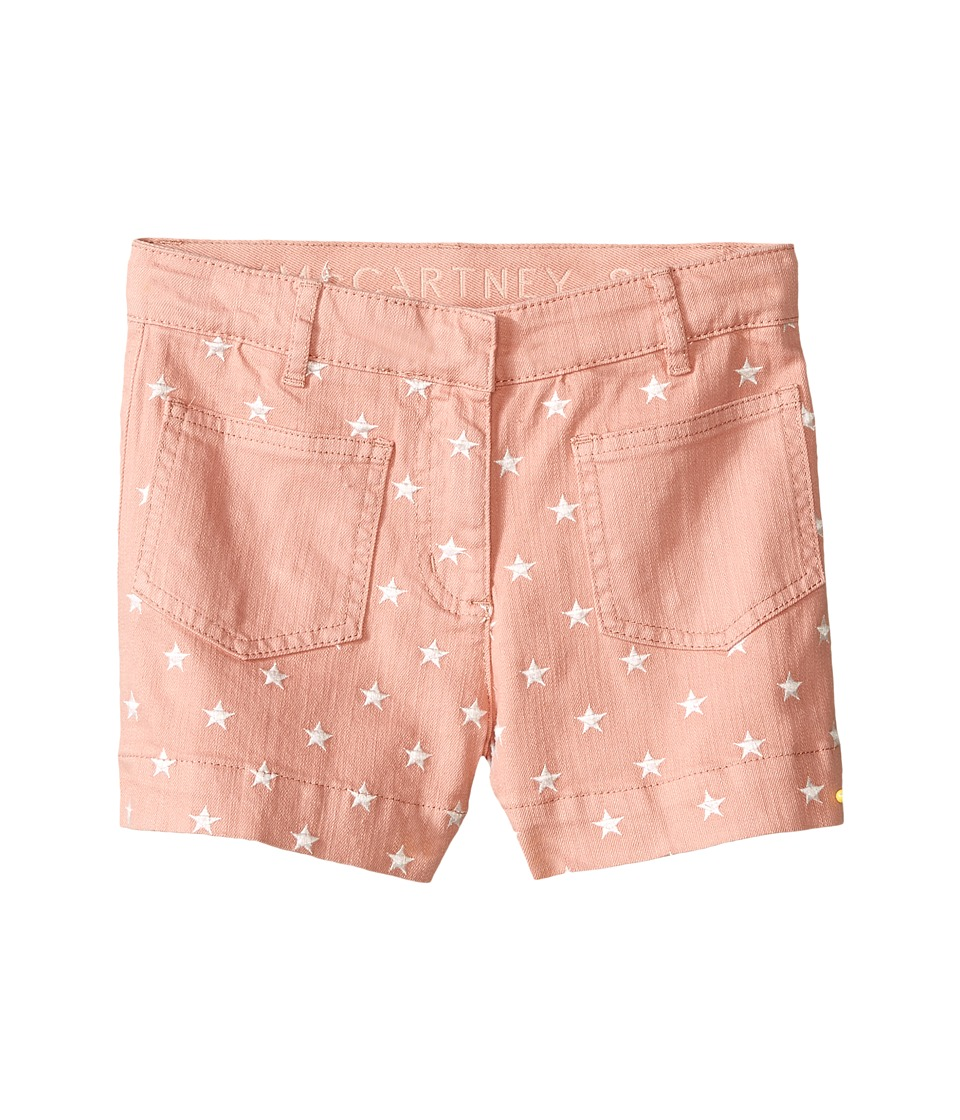 Stella McCartney Kids Alicia Star Embroidered Denim Shorts Toddler/Little Kids/Big Kids Pink Girls Shorts