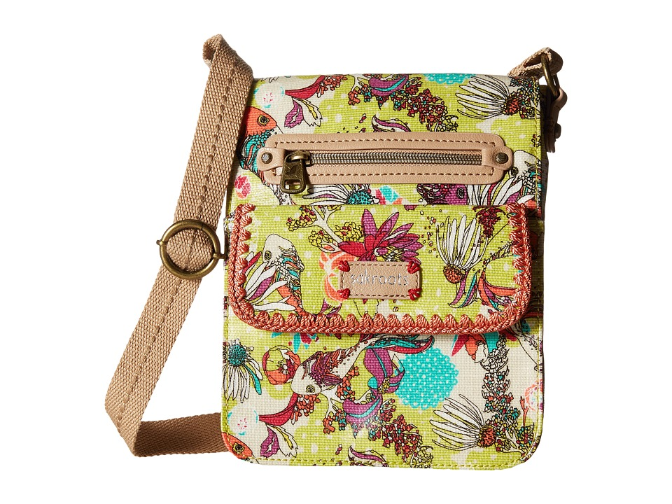 Sakroots - Artist Circle Small Flap (Citrus Xen Garden) Cross Body Handbags
