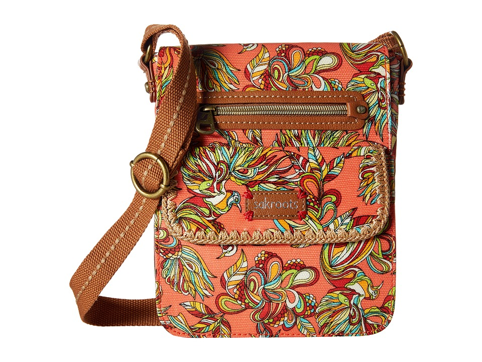 Sakroots - Artist Circle Small Flap (Coral Treehouse) Cross Body Handbags