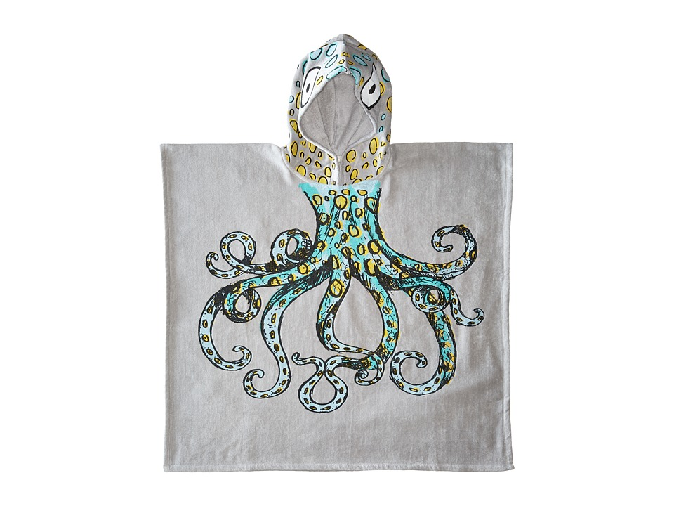 Stella McCartney Kids Bobo Octopus Hooded Beach Towel Small Gray Bath Towels