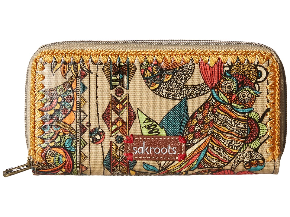 Sakroots - Artist Circle Double Zip Wallet (Camel Spirit Desert) Wallet Handbags
