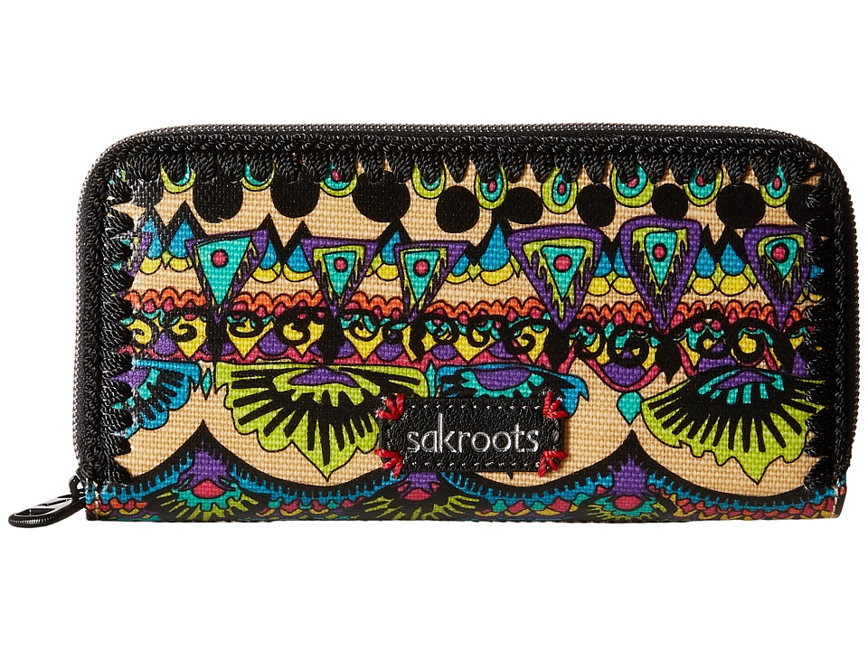 Sakroots - Artist Circle Double Zip Wallet (Radiant One World) Wallet Handbags