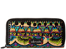 Sakroots Artist Circle Double Zip Wallet (Radiant One World)