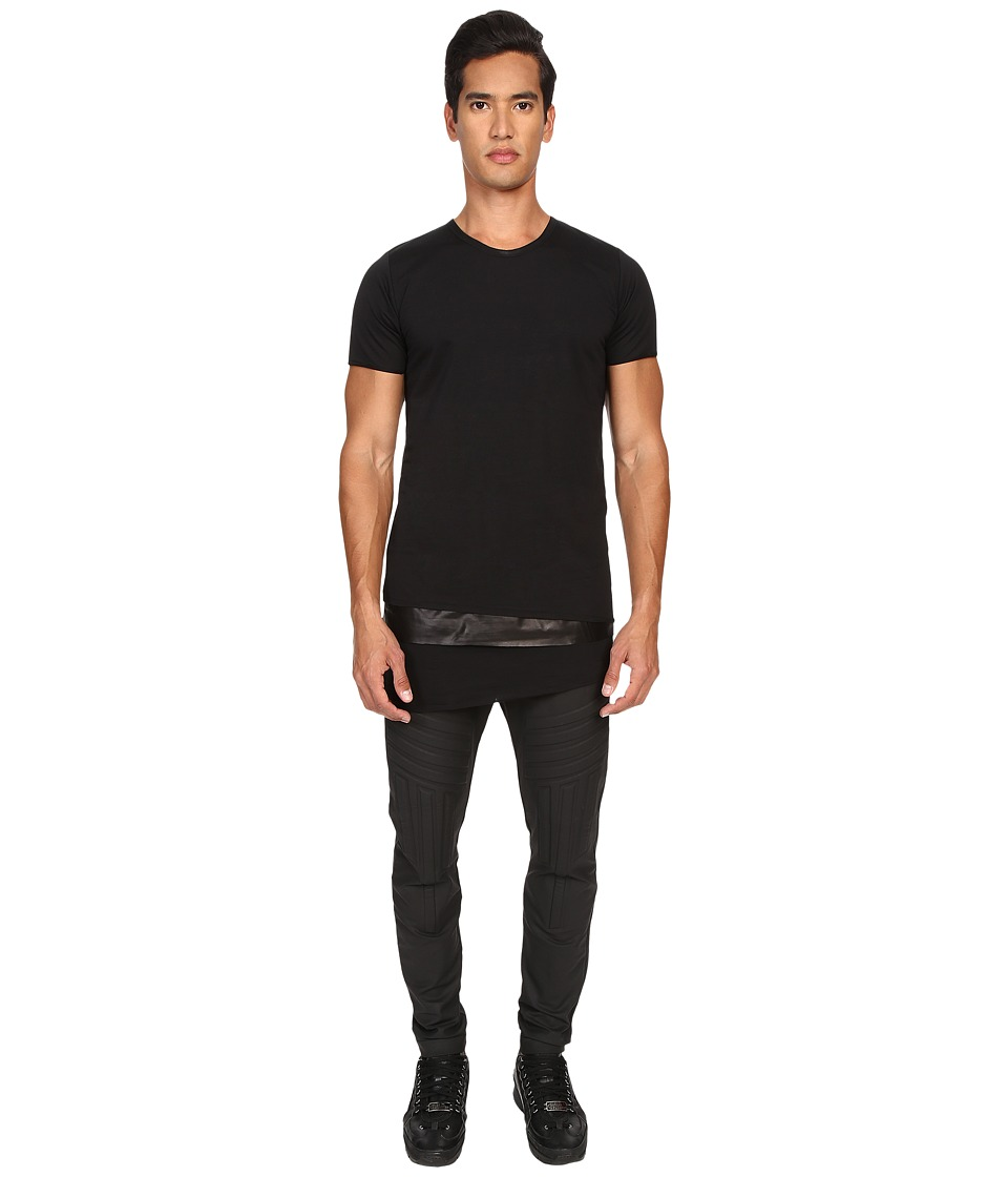 Pyer Moss Tattered Layered Crew Black Mens T Shirt