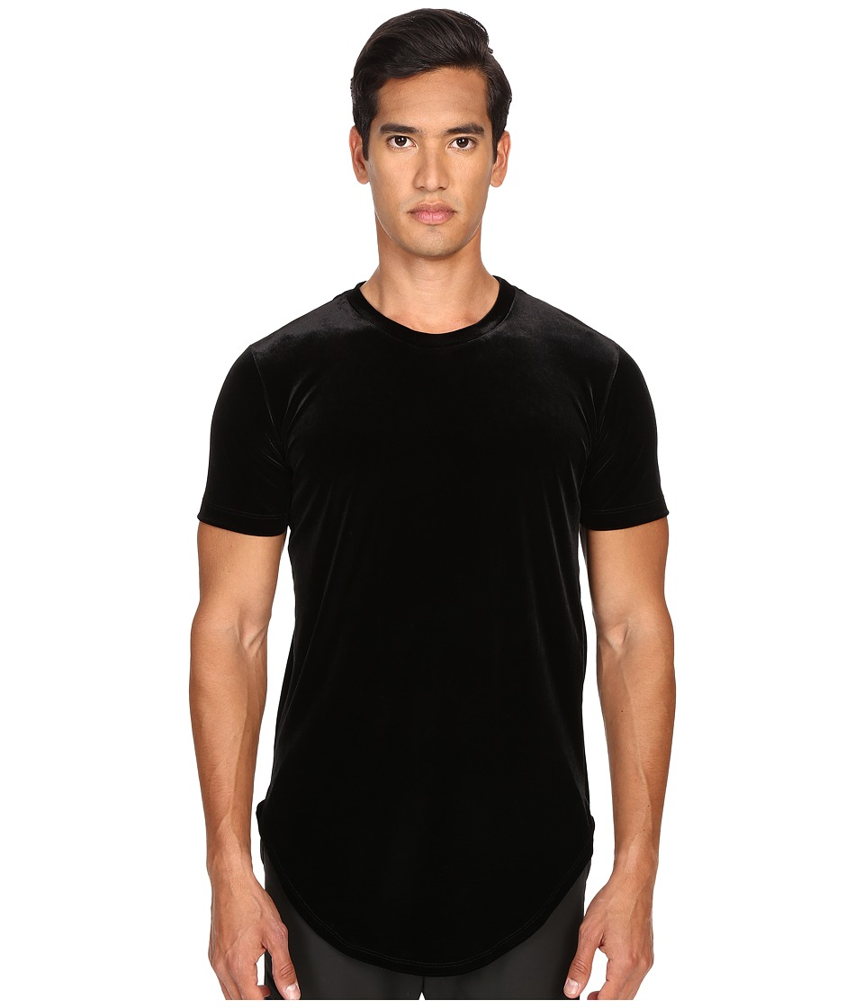 Pyer Moss Ryan Velour T Shirt Black Mens T Shirt