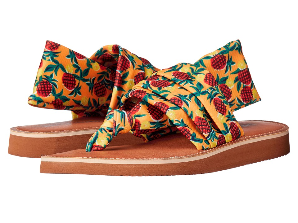 Dirty Laundry Babe Orange Multi Womens Sandals