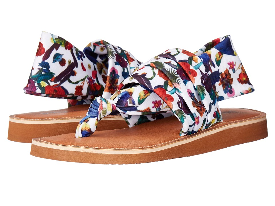 Dirty Laundry Babe White/Multi Womens Sandals
