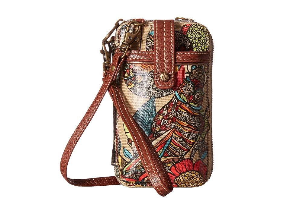 Sakroots Artist Circle Smartphone Wristlet Camel Spirit Desert Wristlet Handbags