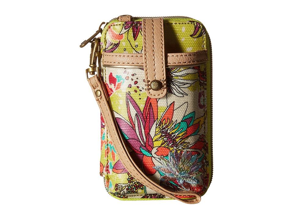 Sakroots Artist Circle Smartphone Wristlet Citrus Xen Garden Wristlet Handbags