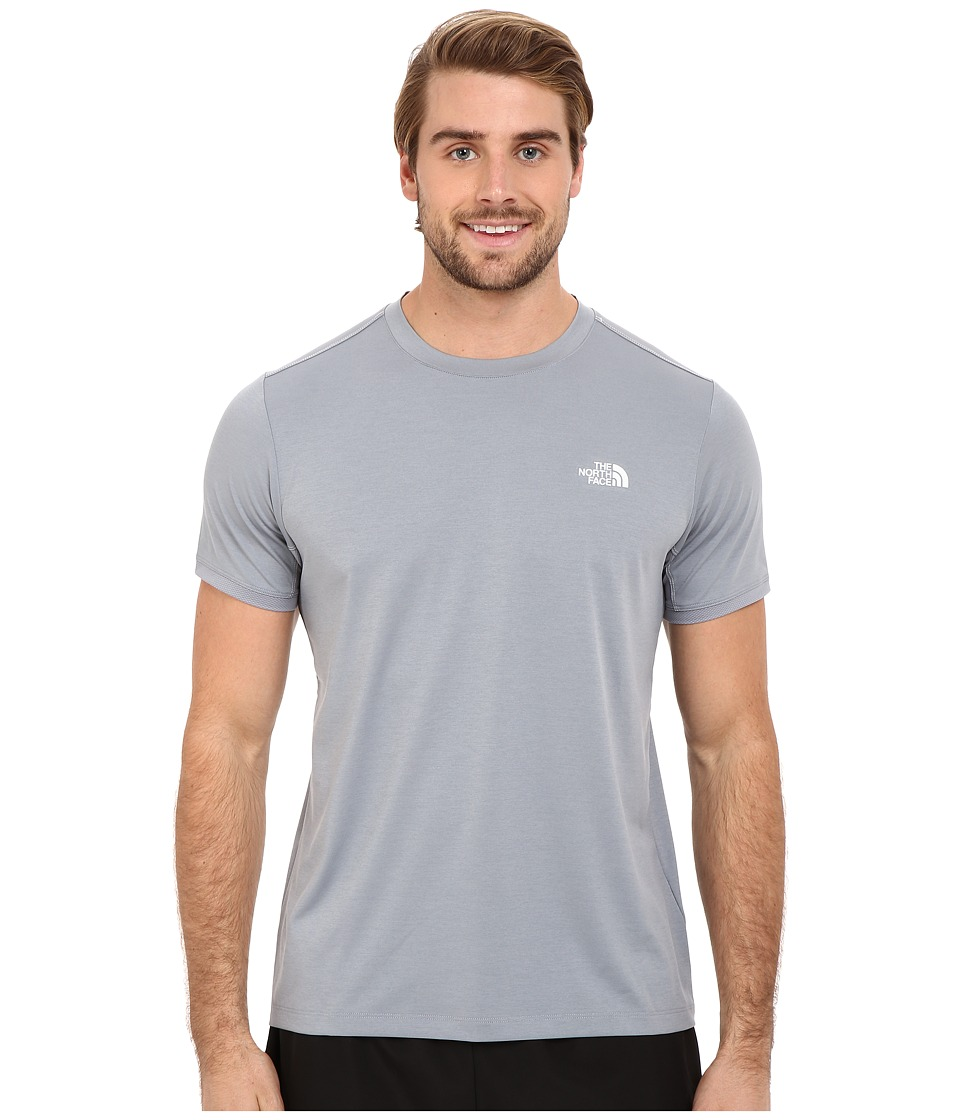 The North Face Ampere Short Sleeve Crew Mid Grey Mens Clothing