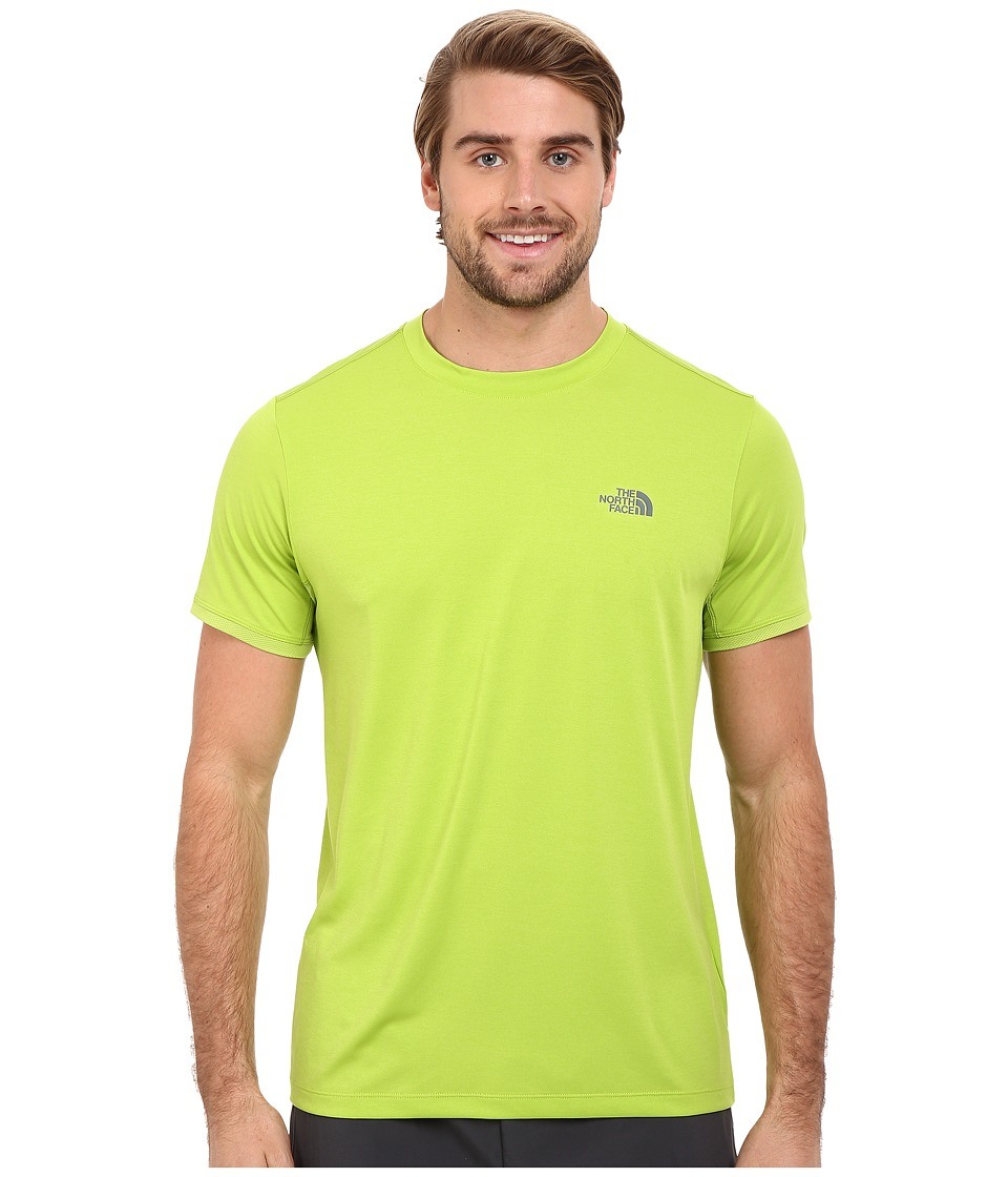 The North Face Ampere Short Sleeve Crew Macaw Green Mens Clothing