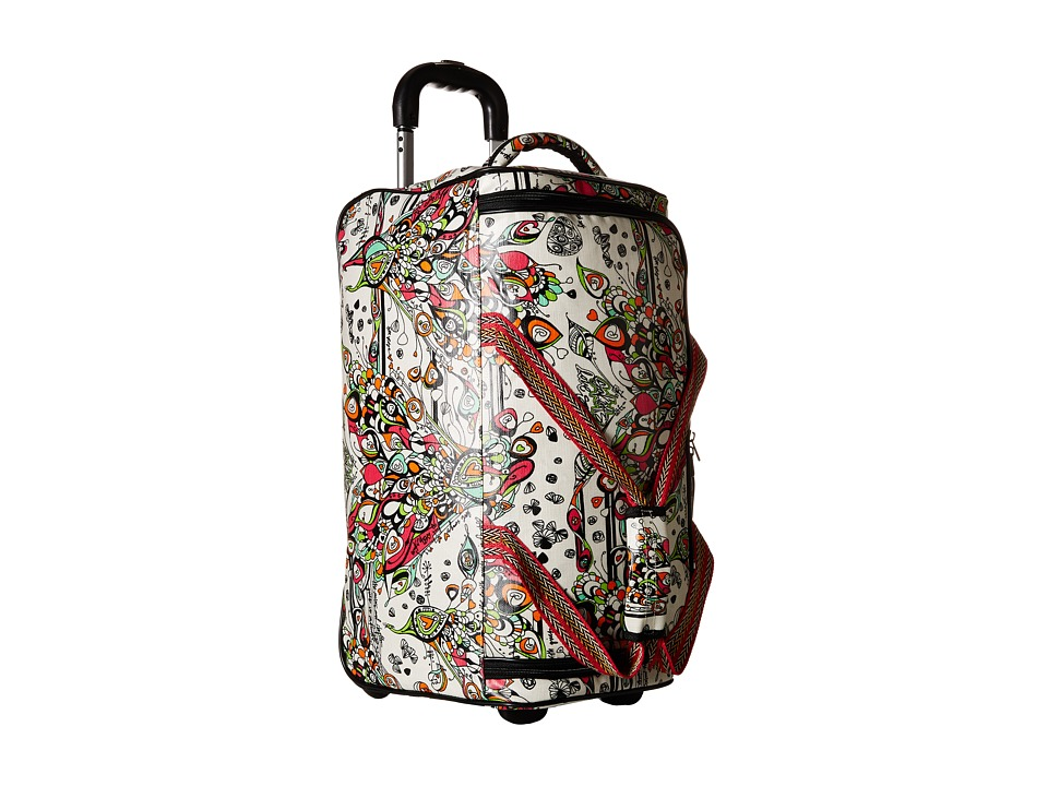 Sakroots Sak Roots Rolling Duffle Optic Songbird Duffel Bags