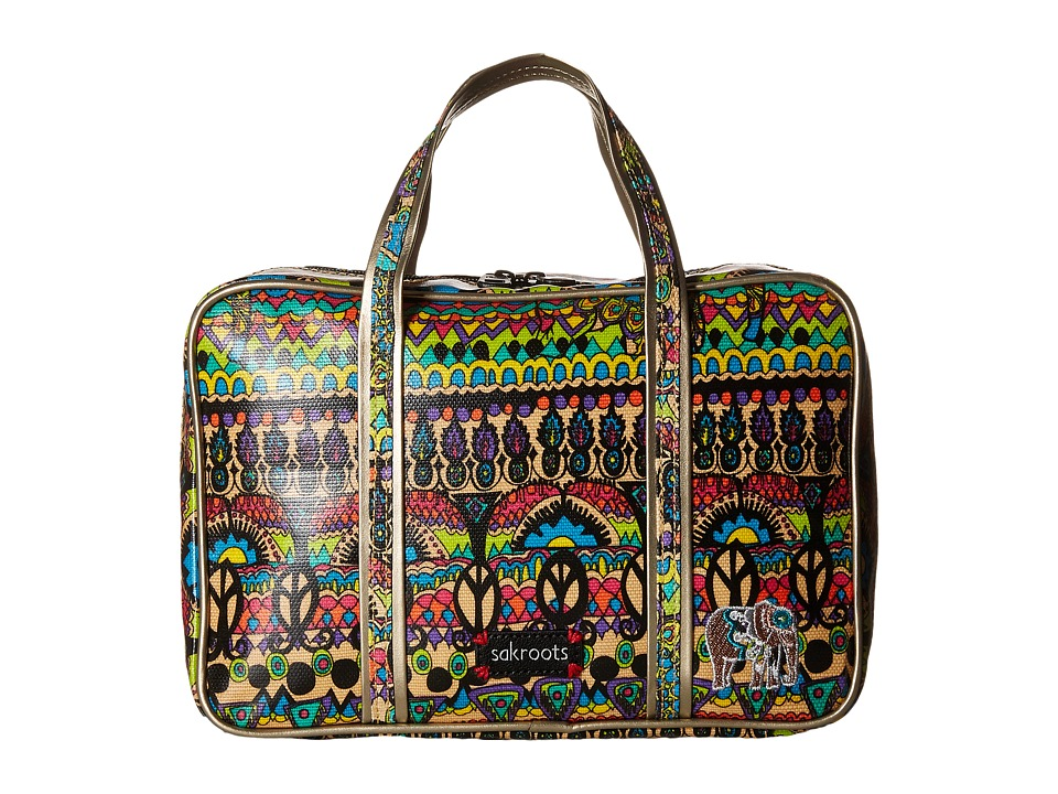 Sakroots - Artist Circle Critter Travel Case (Radiant One World) Travel Pouch