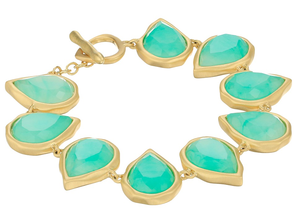 Karen Kane Sky and Sea Reversible Teardrop Bracelet Green Bracelet