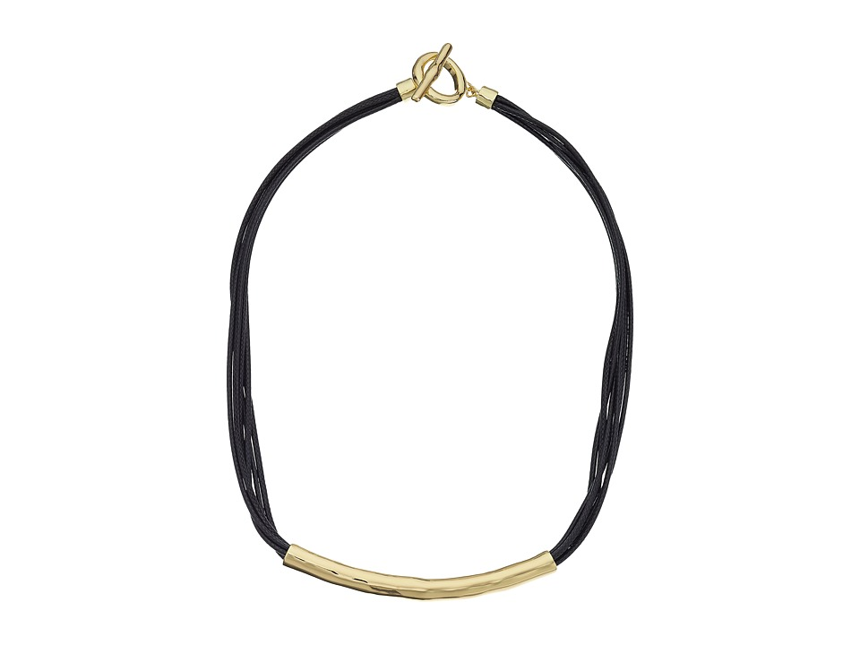 Karen Kane All or Nothing Organic Cord Necklace Gold Necklace