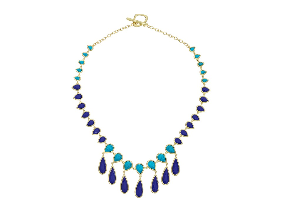 Karen Kane Sky and Sea Teardrop Statement Collar Necklace Blue Necklace