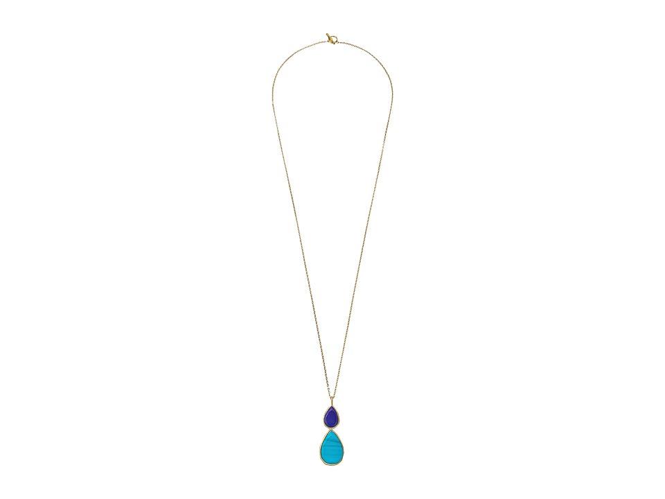 Karen Kane Sky and Sea Double Teardrop Pendant Necklace Turquoise Necklace