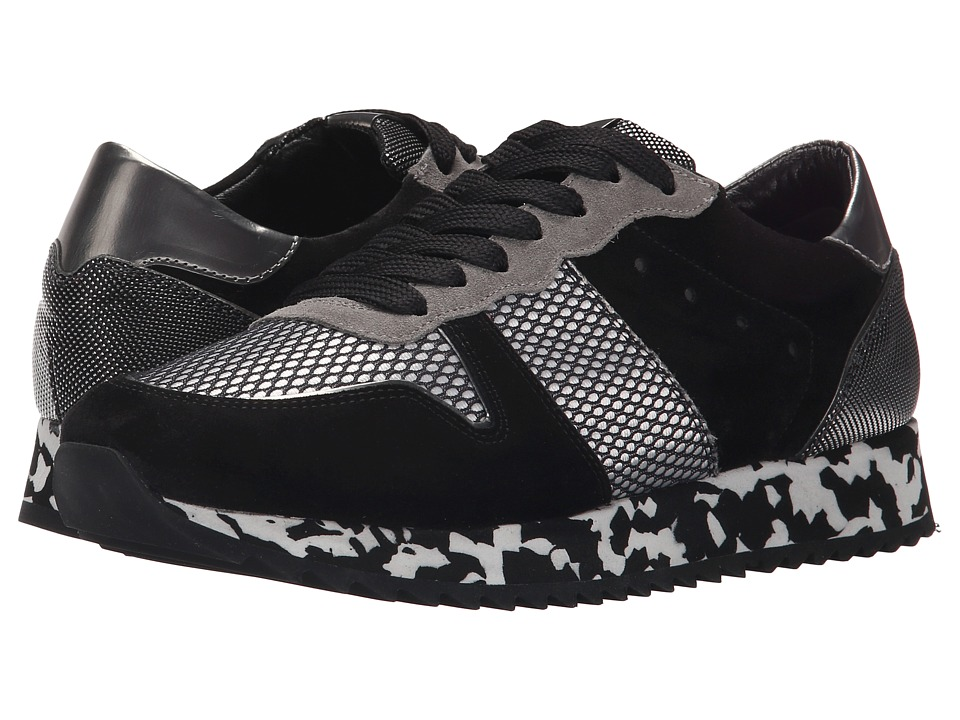 Kennel amp Schmenger Drive Pebble Sole Black Suede/Silver Womens Shoes