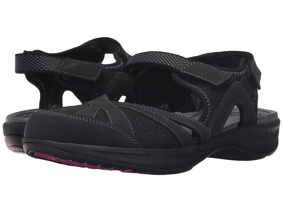 Easy Spirit - Efast (Black/Black Leather) Women